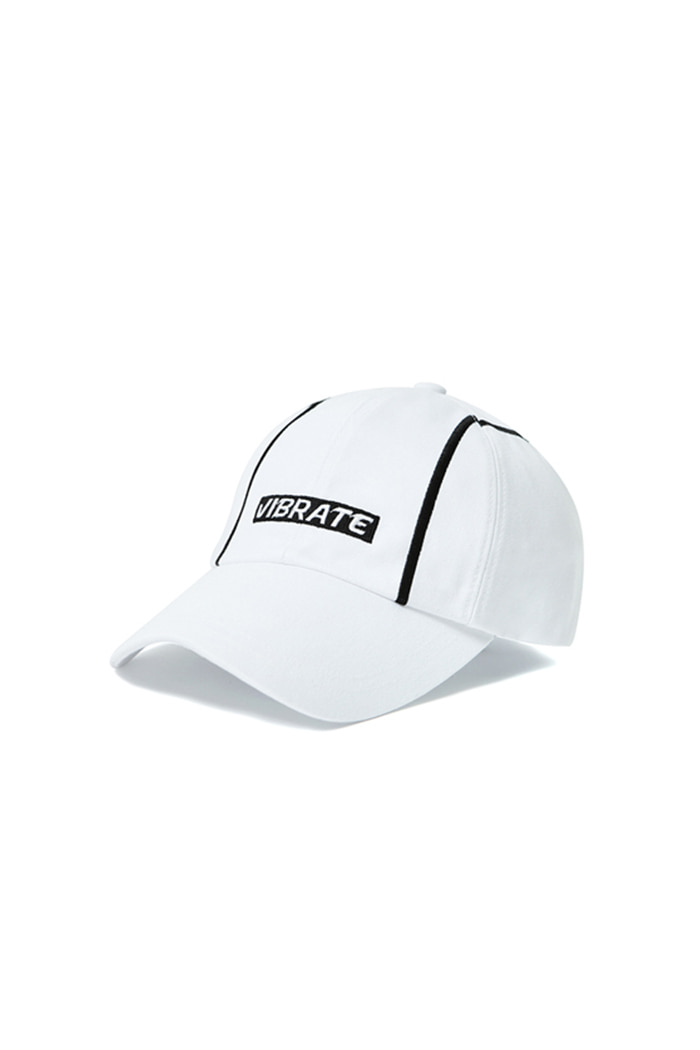VERTICAL LINE BALL CAP (WHITE)