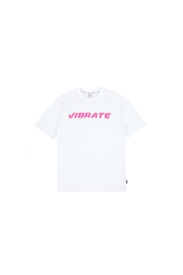 SHAKING LOGO T-SHIRT (WHITE&PINK)