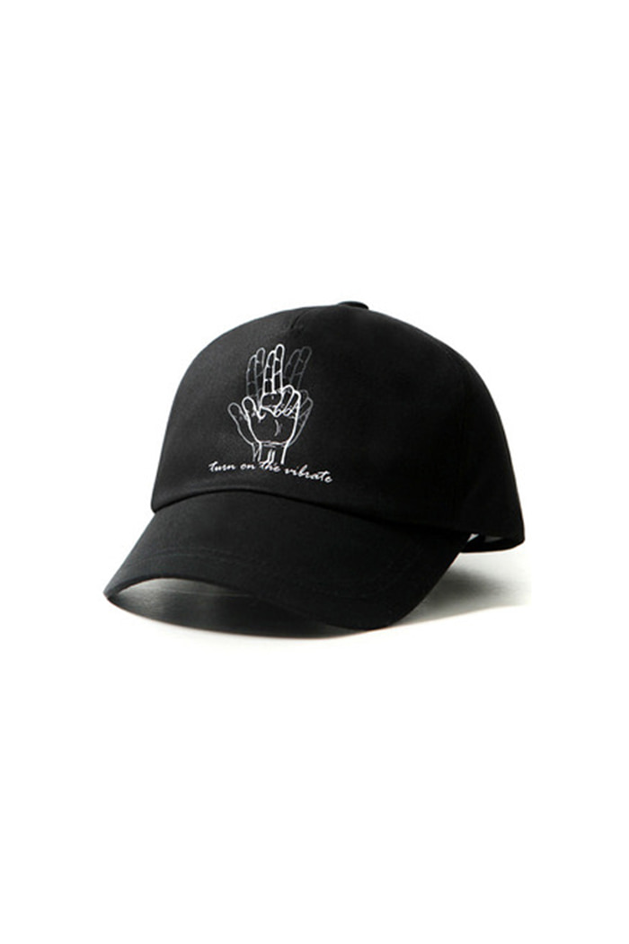 CLASSIC HAND 5 PANEL BALL CAP (BLACK)