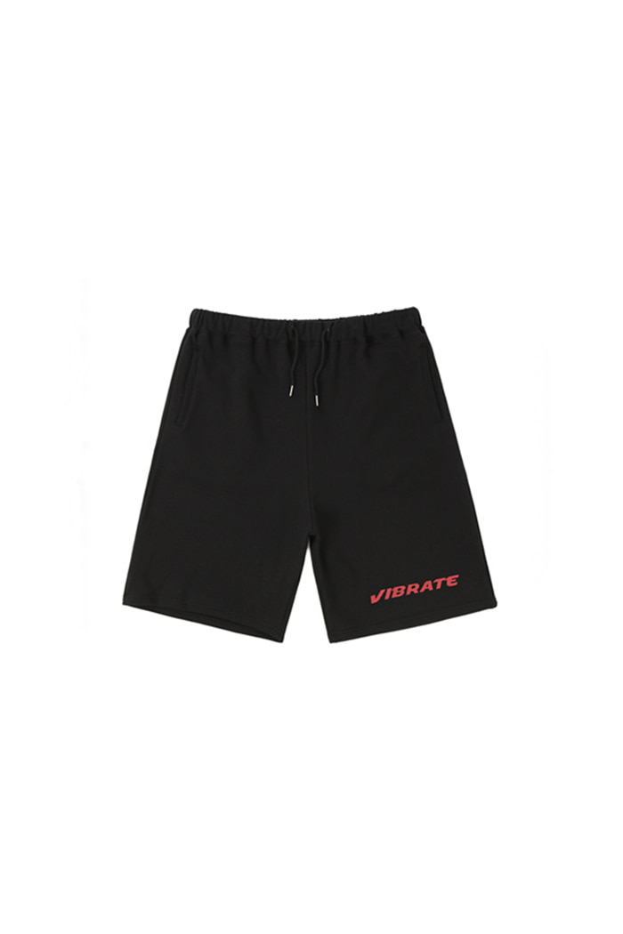 MINI RED LOGO SHORT PANTS (BLACK)