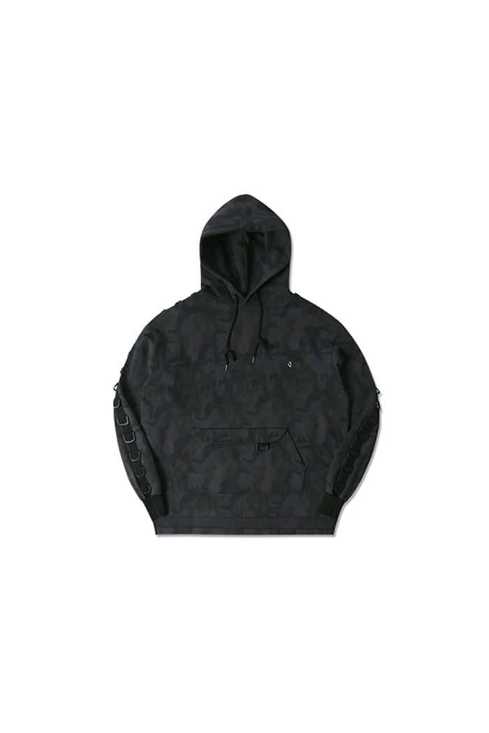 D RING CAMO HOODIE (CHARCOAL)