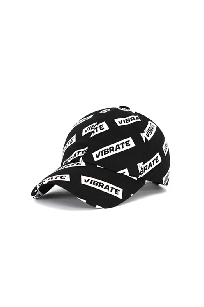 SCATTERED LOGO BALL CAP (BLACK)