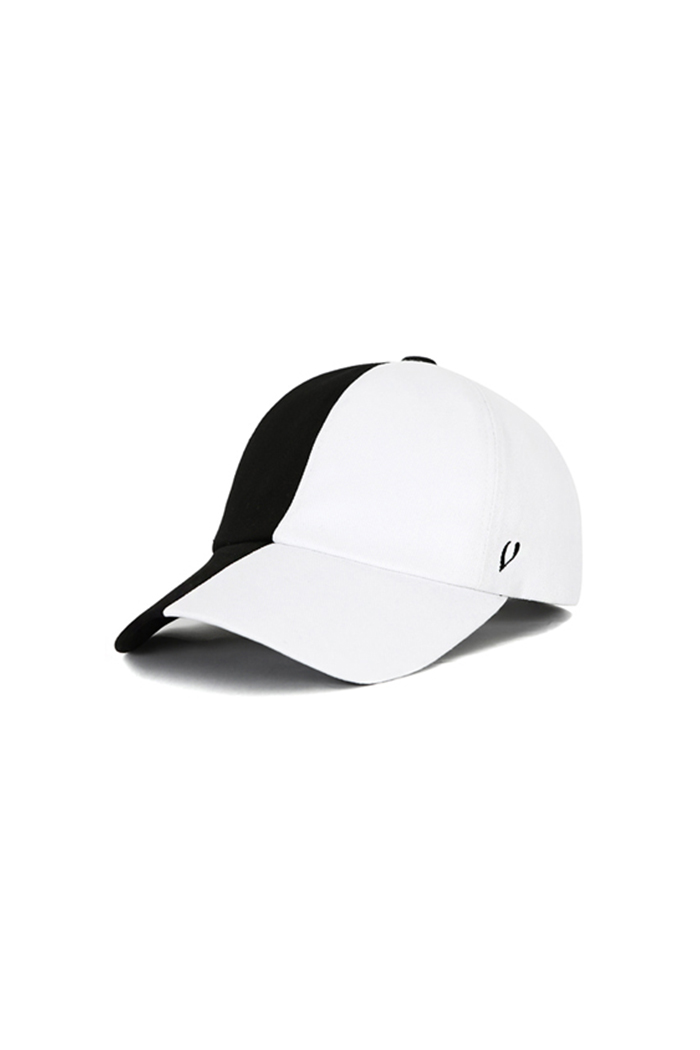 COTTON SPLIT BALL CAP (BLACK&WHITE)
