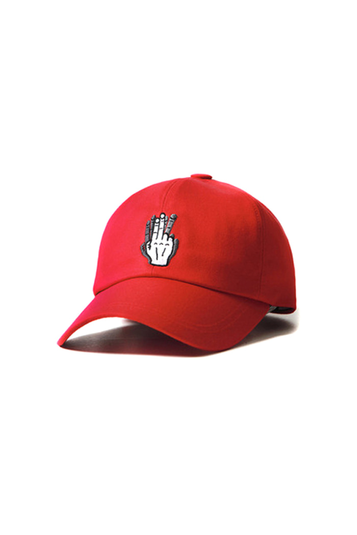 HAND SHAKE SIGN BALL CAP (red)