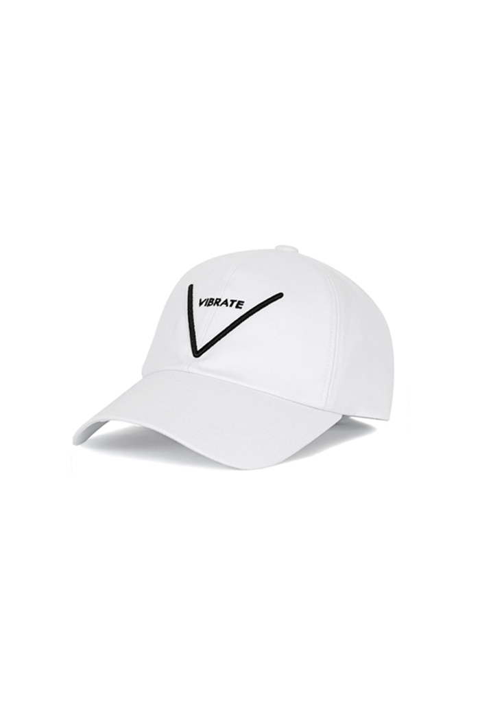 V LOGO BALL CAP (WHITE)