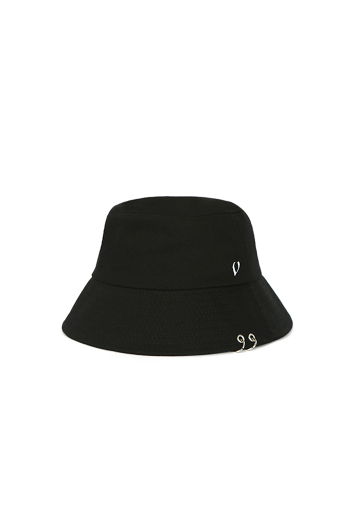 TWIN RING BUCKET HAT (BLACK)