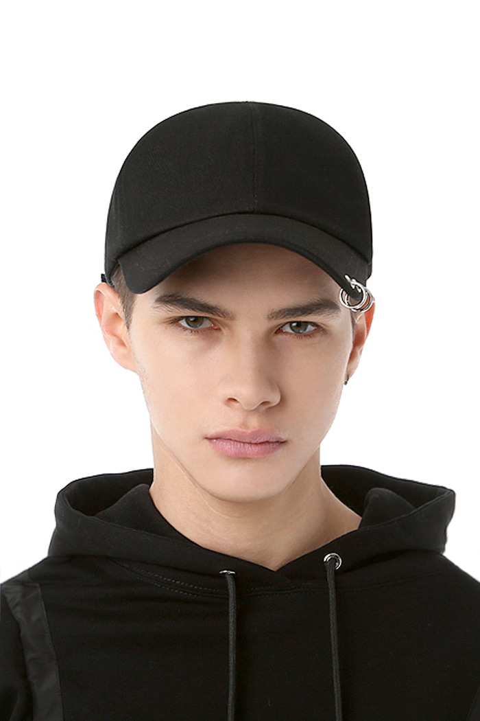 TWIN RING BALL CAP (BLACK)