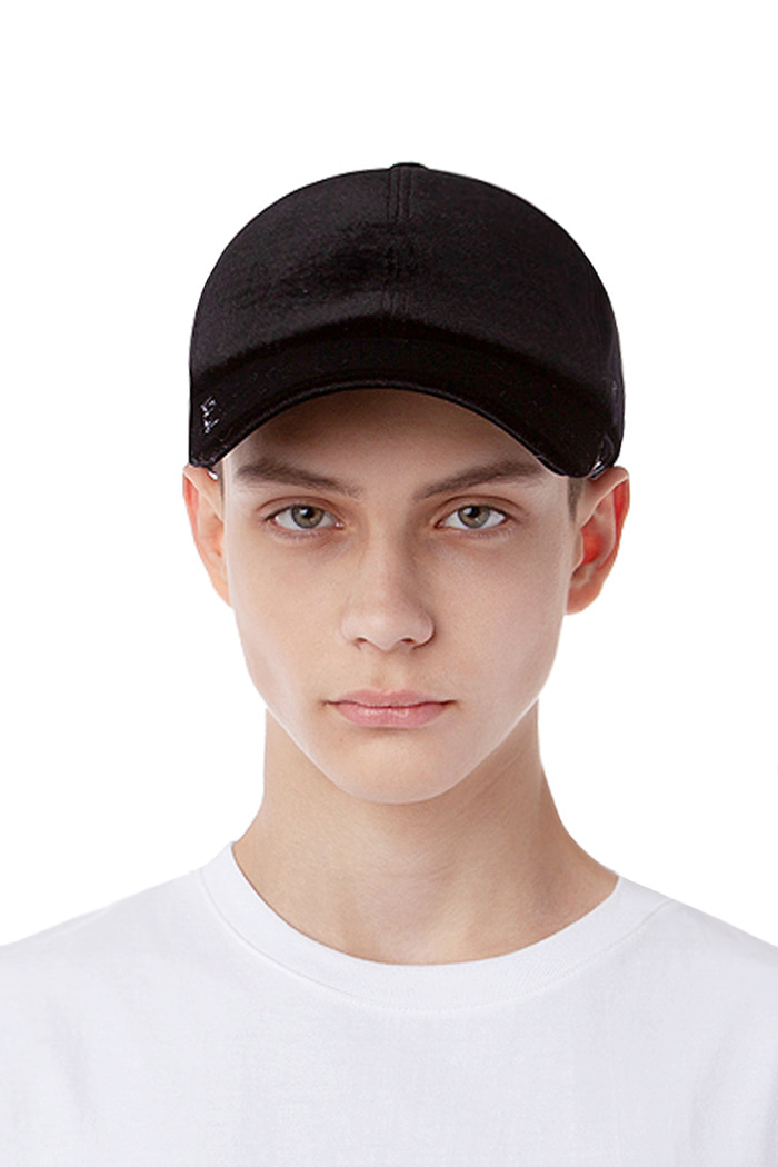 VELVET BALL CAP (BLACK)