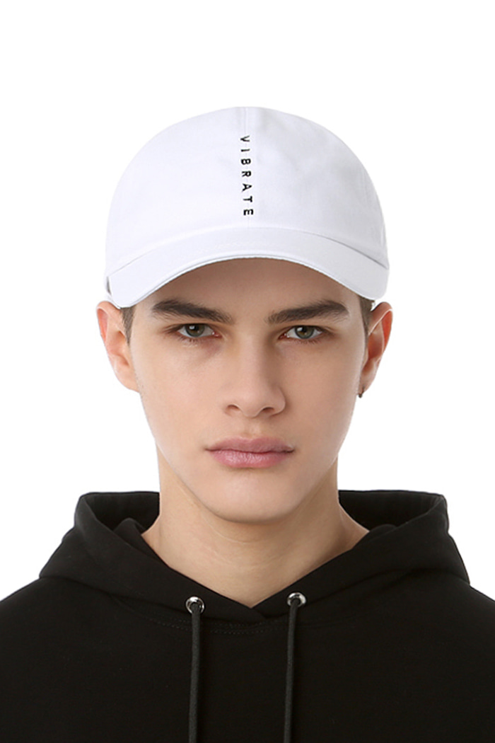VERTICAL LOGO BALL CAP (WHITE)
