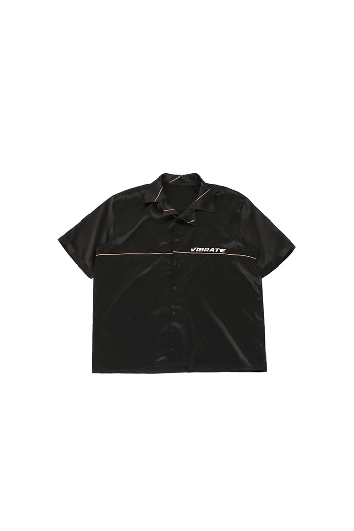 GOLDLINE BASIC SILK SHIRT (BLACK)