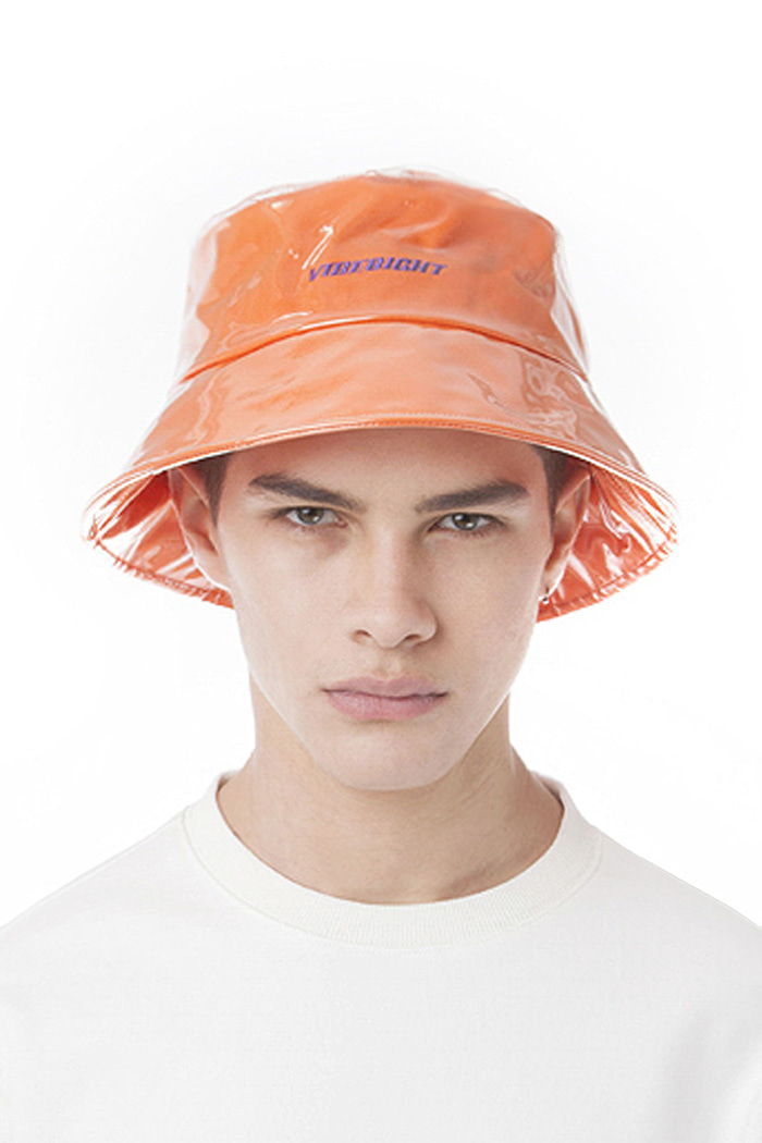LOGO PVC BUCKET HAT (ORANGE)