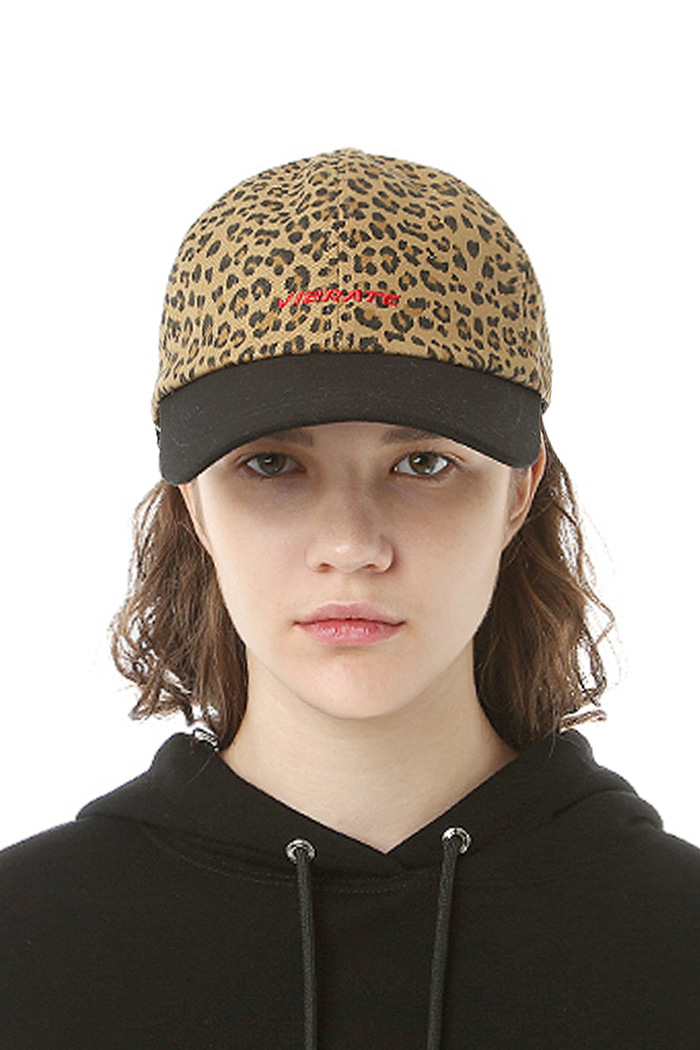 BASIC LOGO LEOPARD BALL CAP