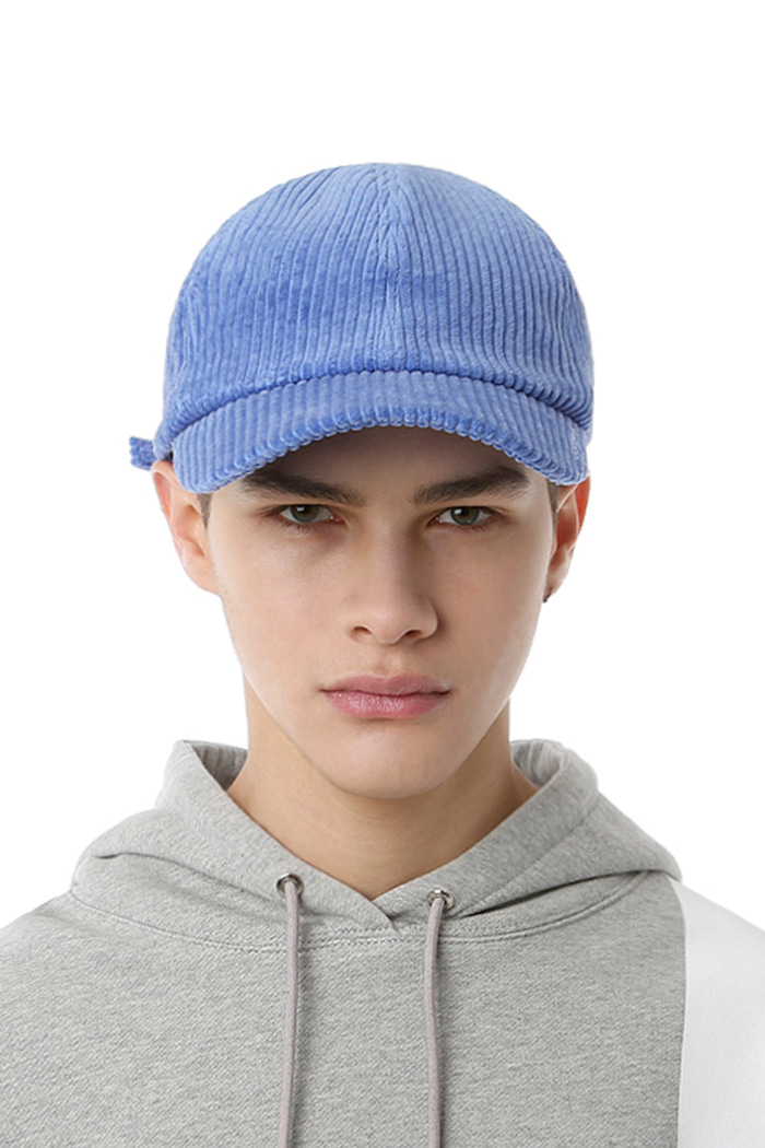 SIDE LOGO CORDUROY BALL CAP (BLUE)