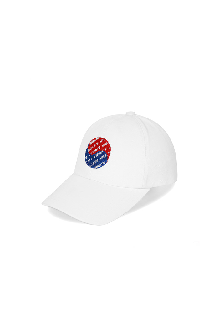 KOREAN FLAG LOGO BALL CAP  (WHITE)
