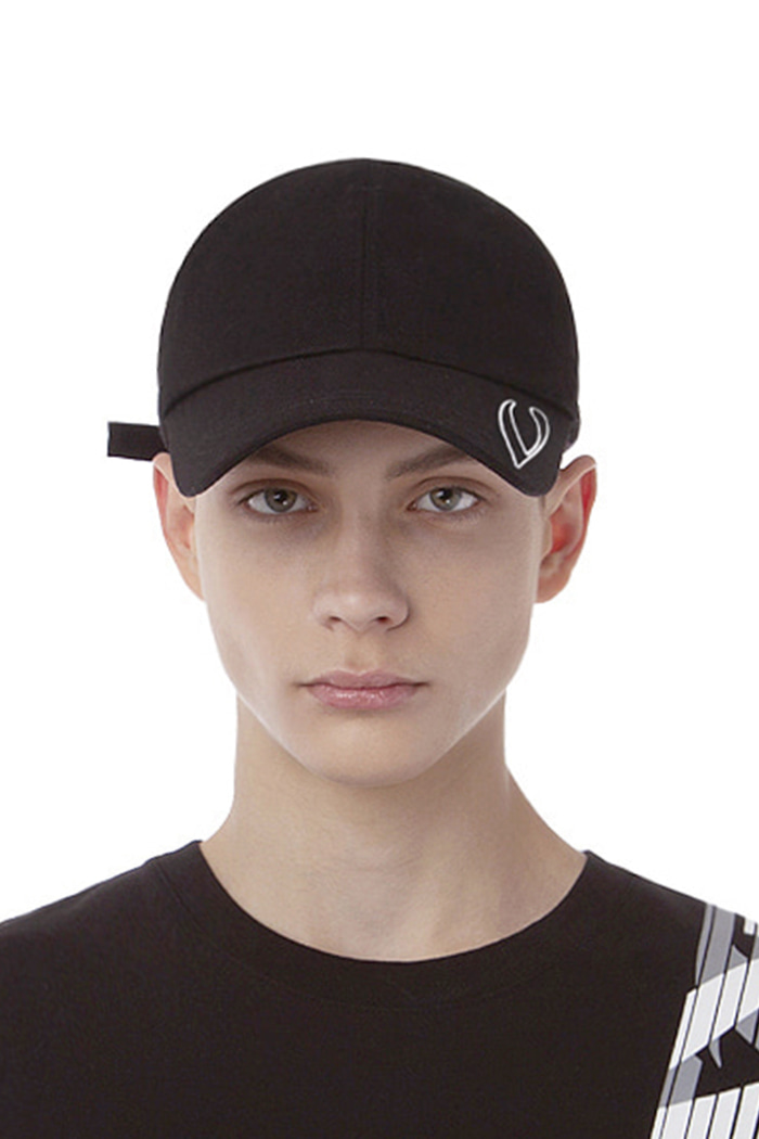 VISOR STITCH LOGO BALL CAP (BLACK)