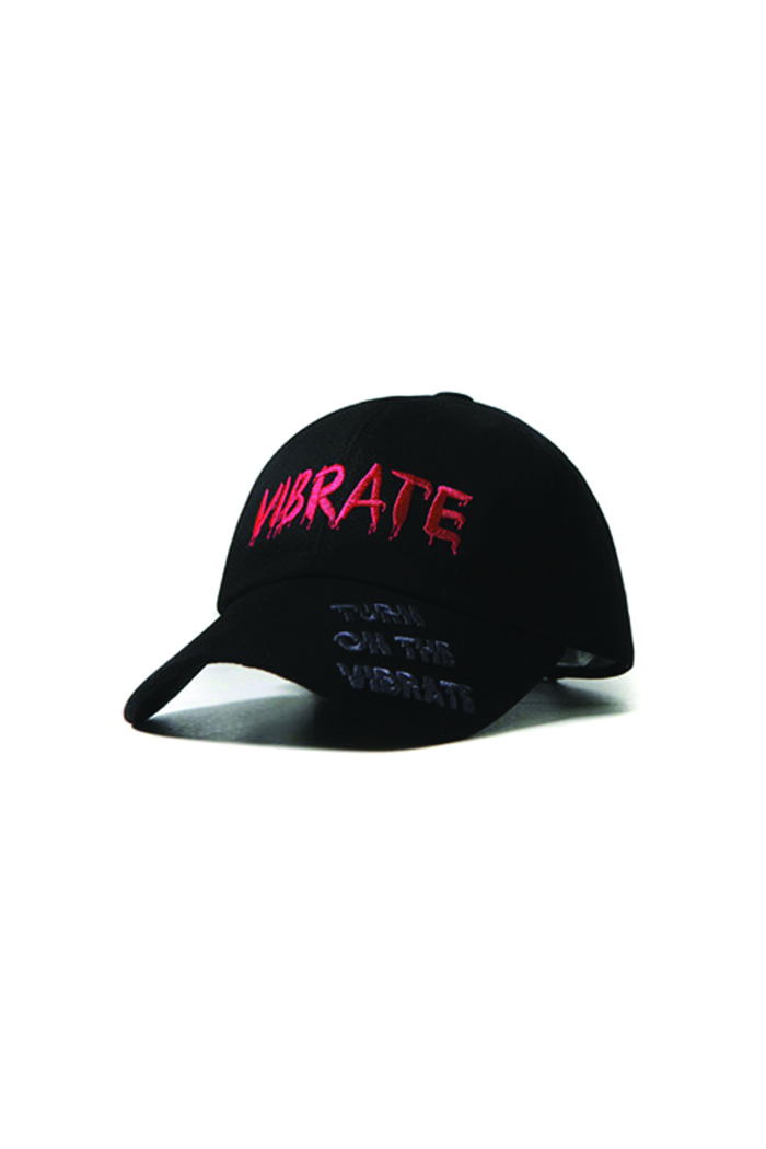 GRAFFITI EMBROIDERY BALL CAP (BLACK)