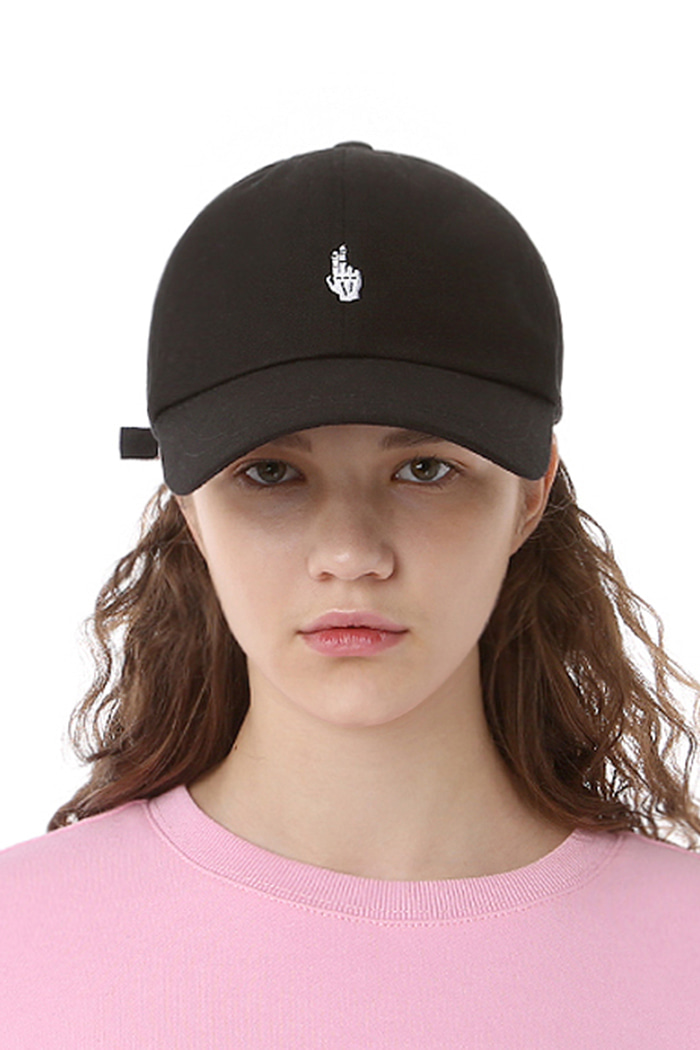 FINGER BALL CAP (WASHING BLACK)