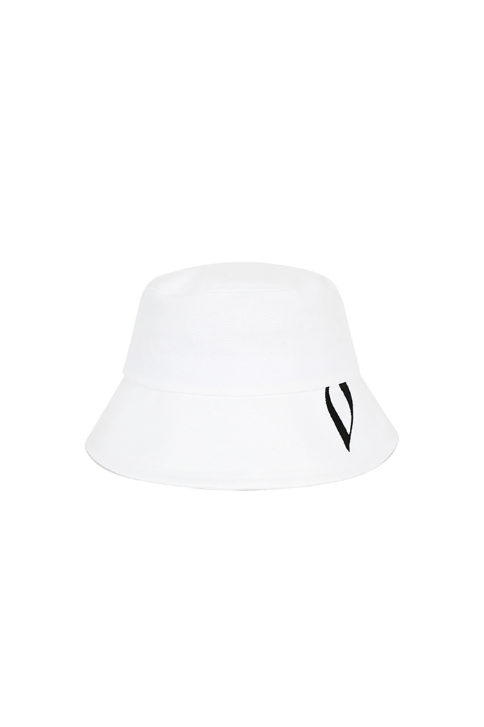 VIBRATEKIDS - HUGE V BUCKET HAT (WHITE)