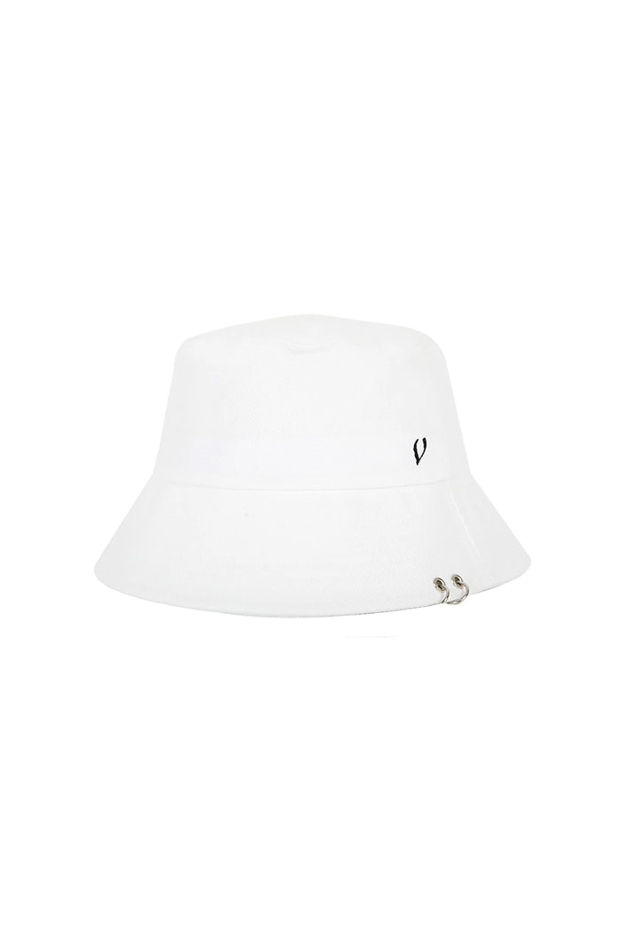 VIBRATEKIDS - TWIN RING BUCKET HAT (WHITE)