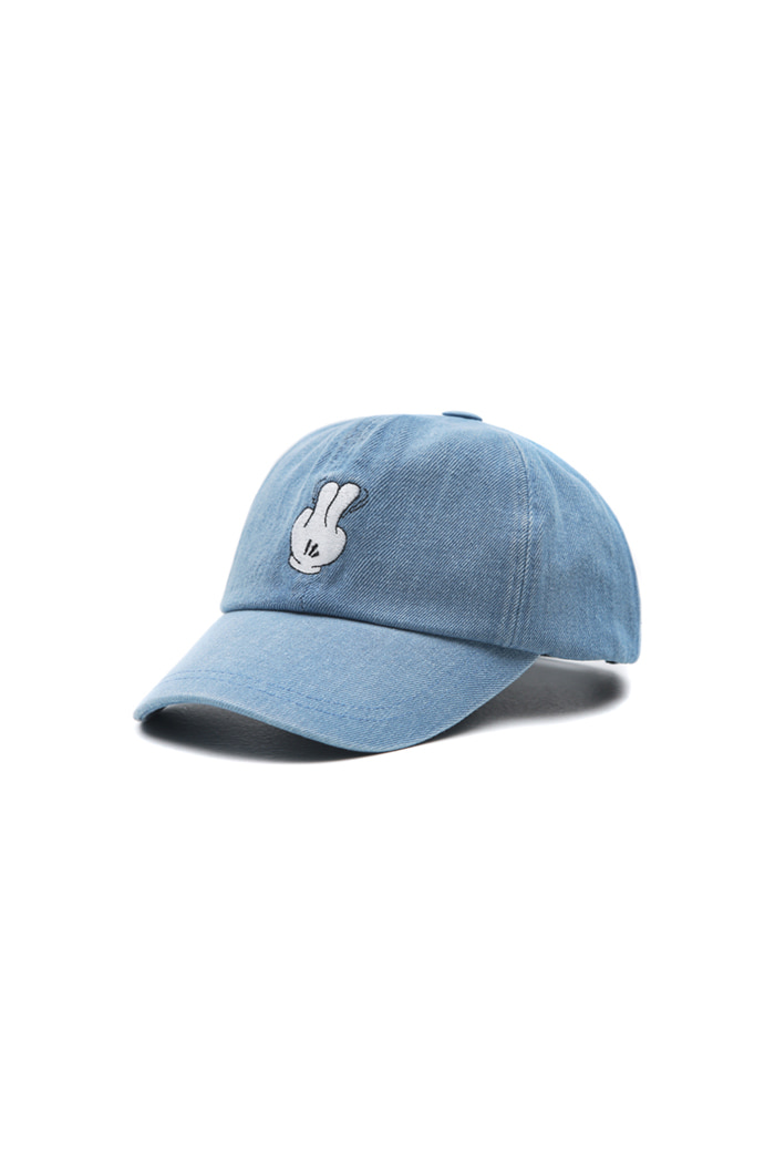 VIBRATEKIDS - DENIM FINGER BALL CAP (LIGHT DENIM)