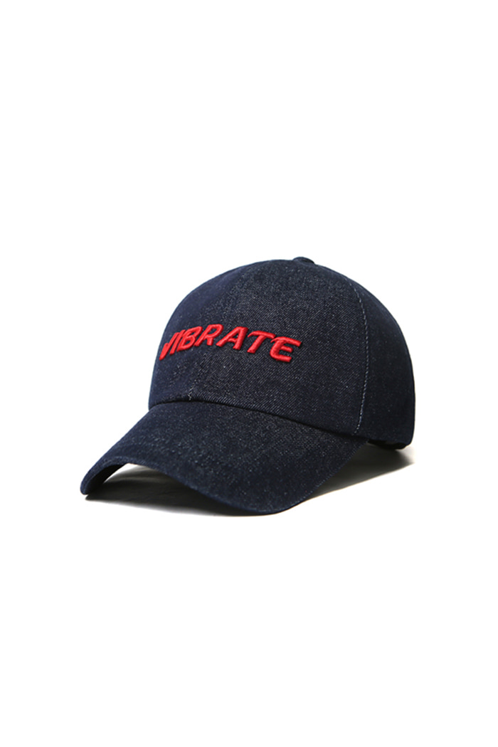 VIBRATEKIDS - SIGNATURE DENIM BALL CAP (RED)