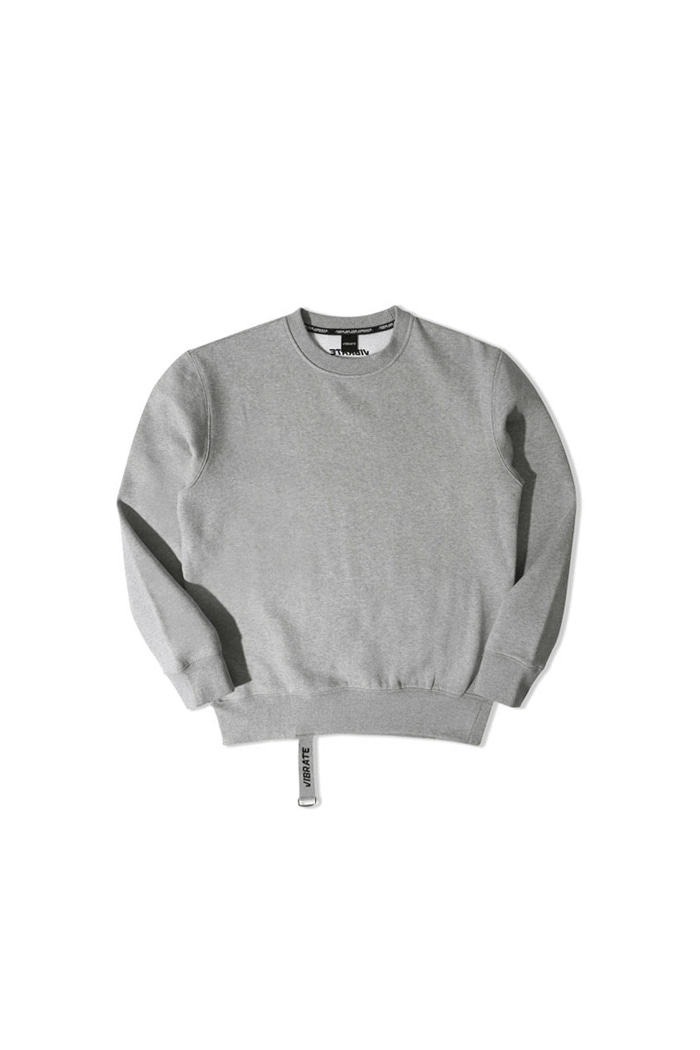VIBRATEKIDS - SIMPLE WEBBING LOGO SWEATSHIRTS (GRAY)