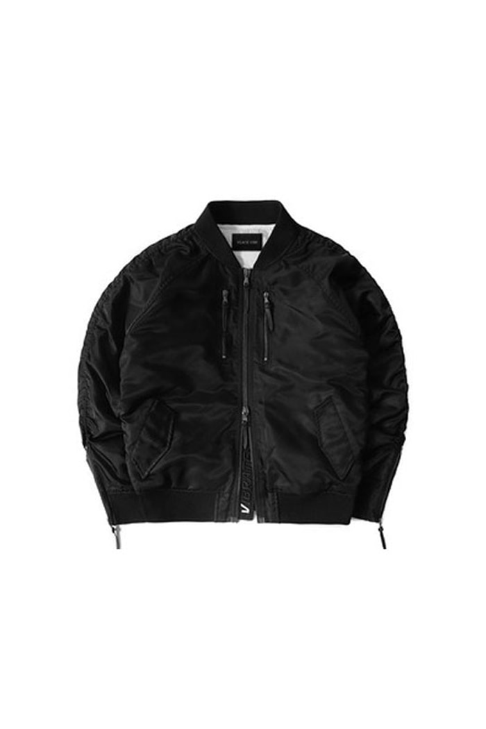 VIBRATEKIDS - ZIPPER MA-1 JACKET (BLACK)