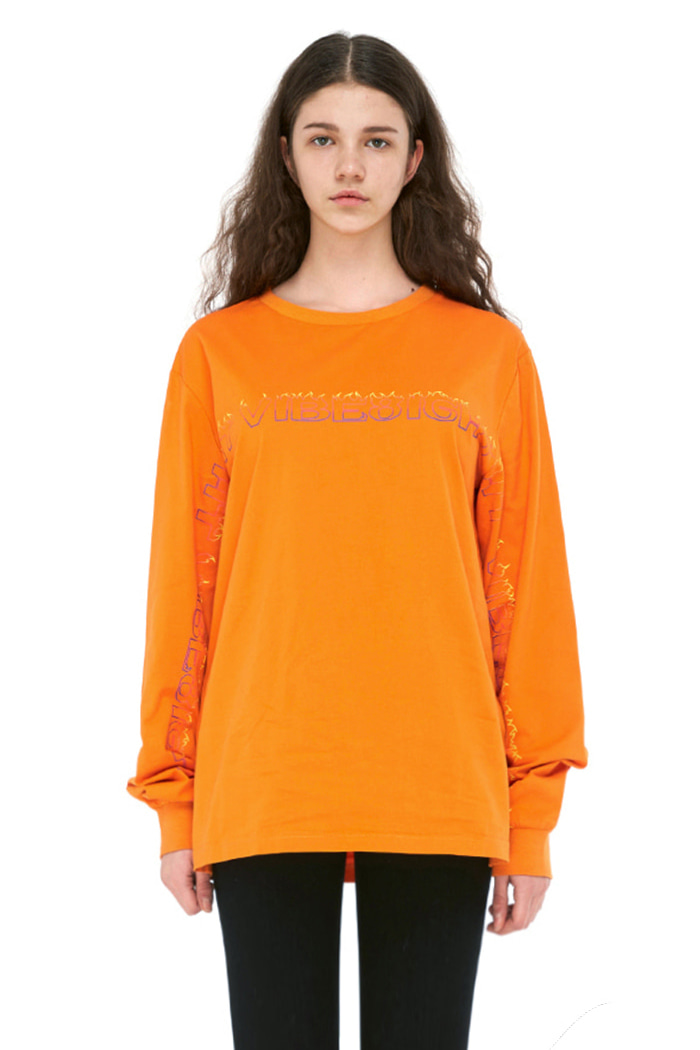 FLAME BASIC LONG SLEEVE (ORANGE)