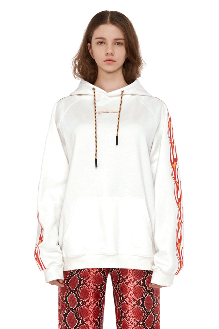 FLAME STITCH HOODIE (WHITE)