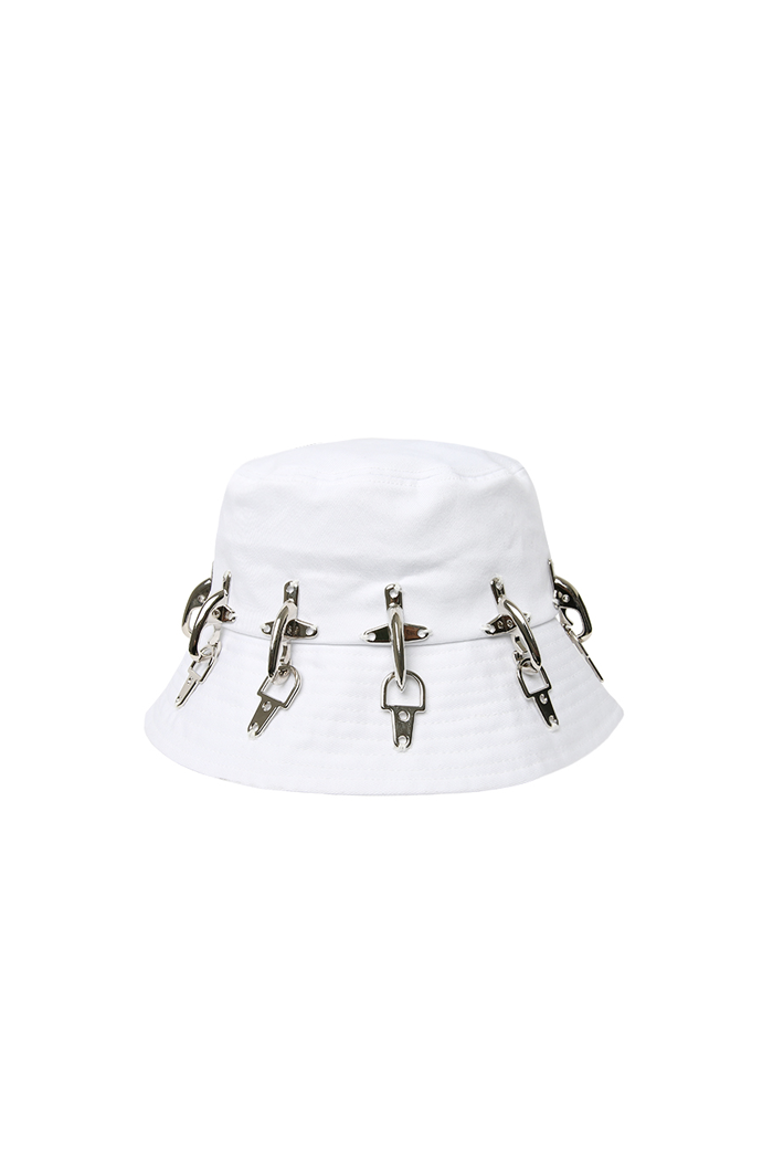 FIREFIGHTING HOOK BUCKET HAT NO.1 (WHITE)