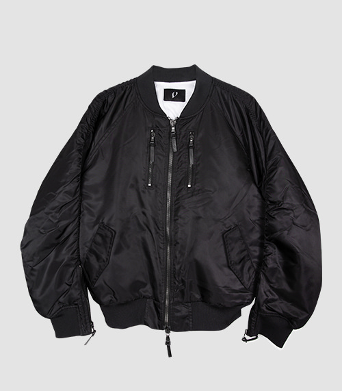 ZIPPER MA-1 JACKET (BLACK)