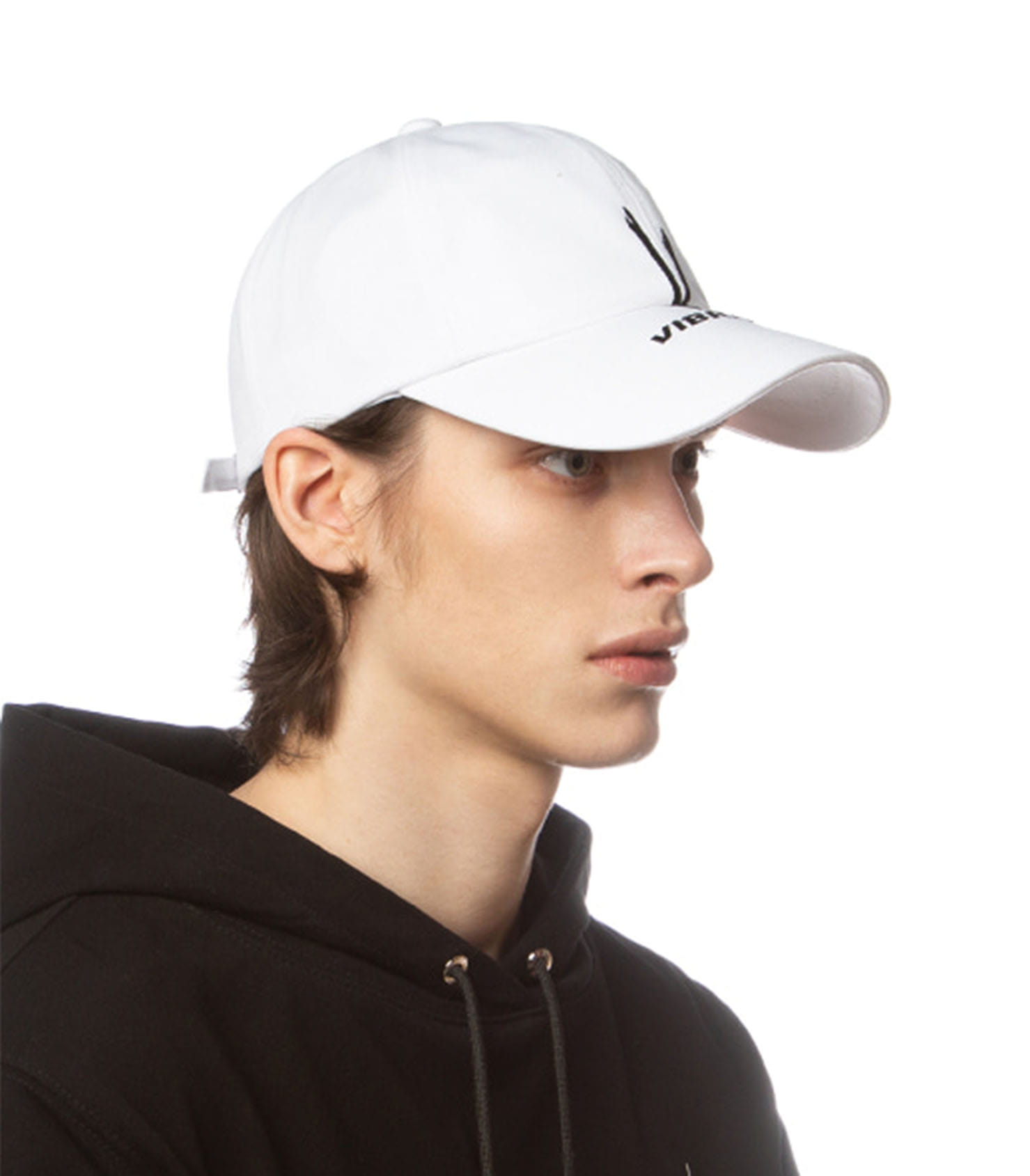 V CHECKING MULTI LOGO BALL CAP (WHITE)