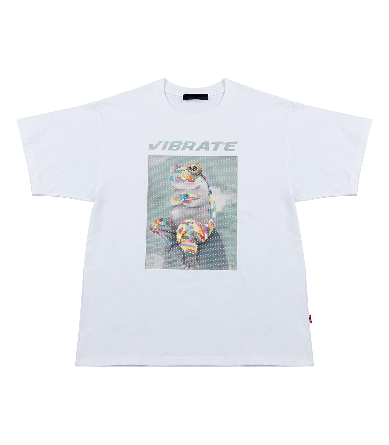 GLORY FROG LOGO HOLOGRAPHY T-SHIRT (WHITE)