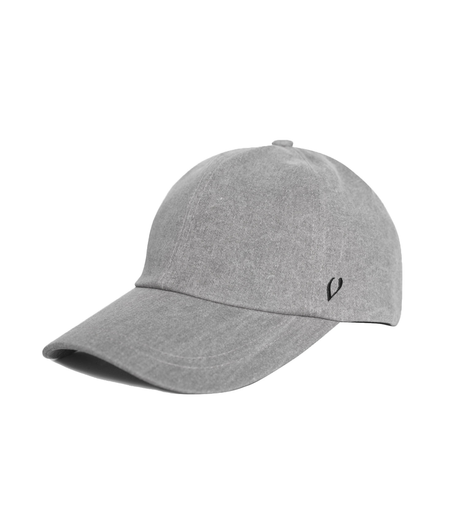 BLACK LINE - REAL COTTON BALL CAP (gray)