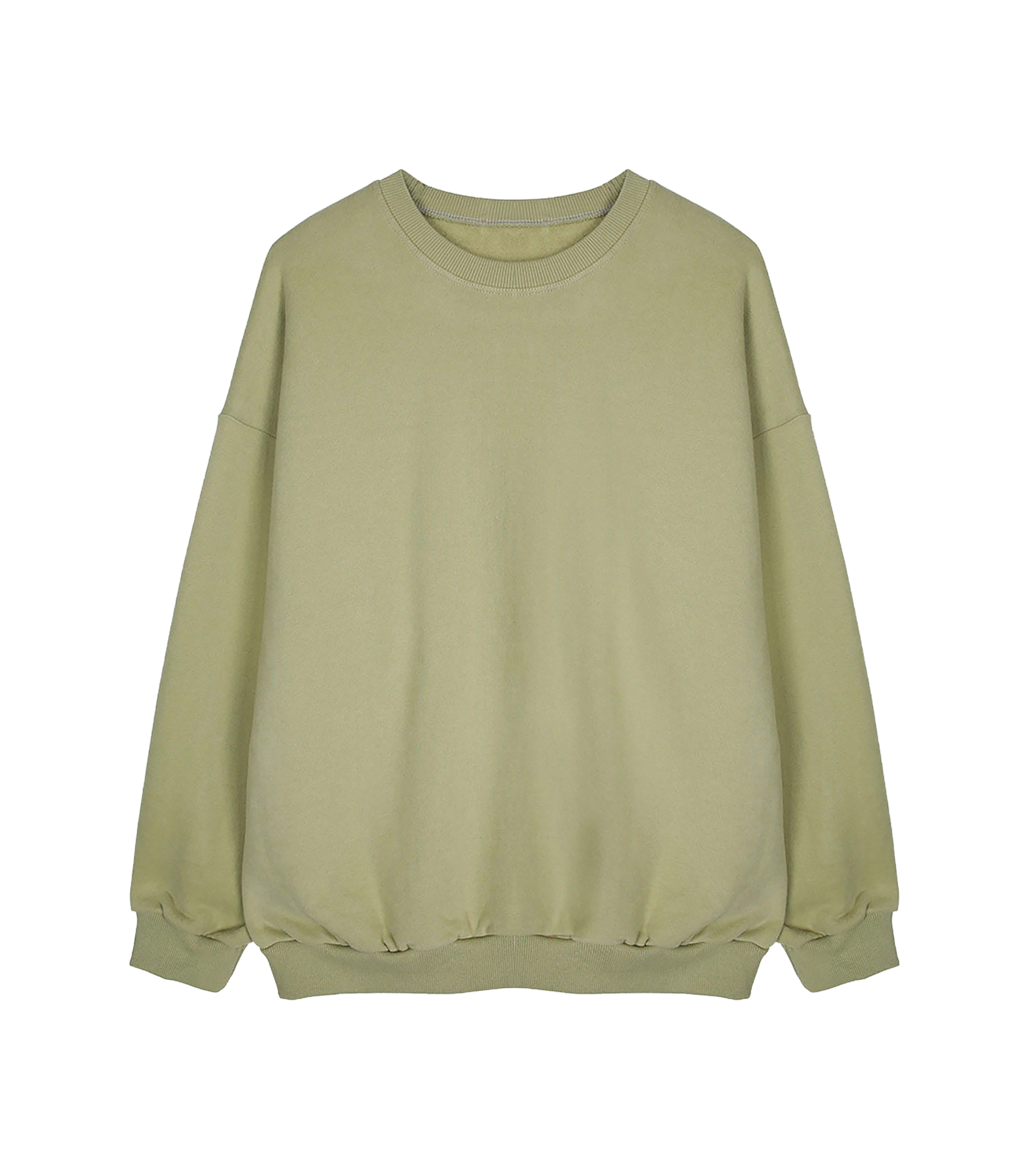 DAILY AND EASY BASIC SWEATSHIRTS (LIGHT KHAKI)