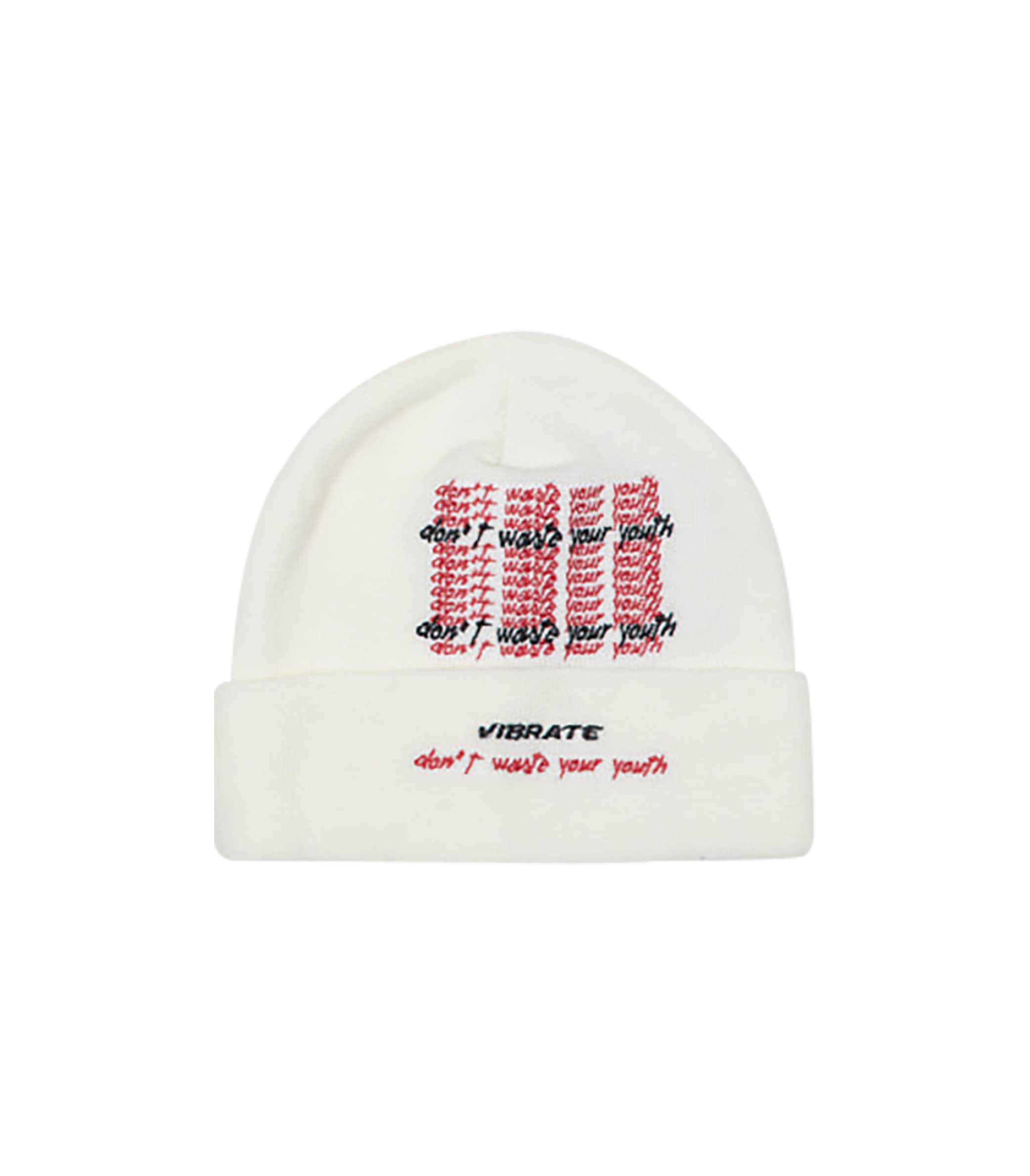 D.W.Y.Y LETTERING BEANIE (WHITE)