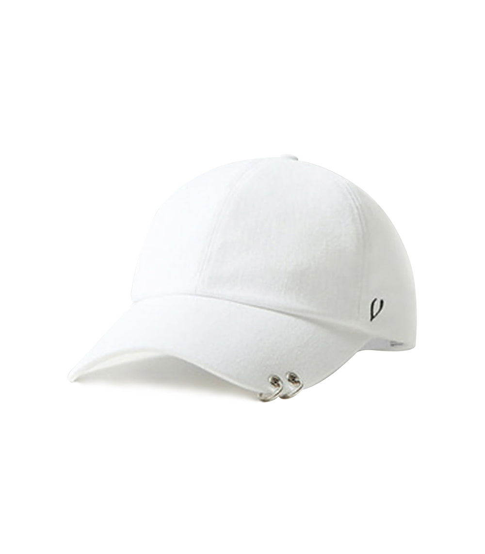 BLACK LINE - TWIN RING BALL CAP (WHITE)