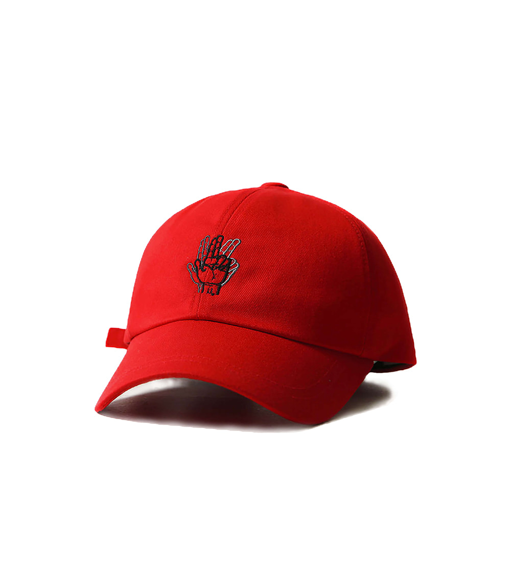 MINI CLASSIC HAND LOGO BALL CAP (RED)