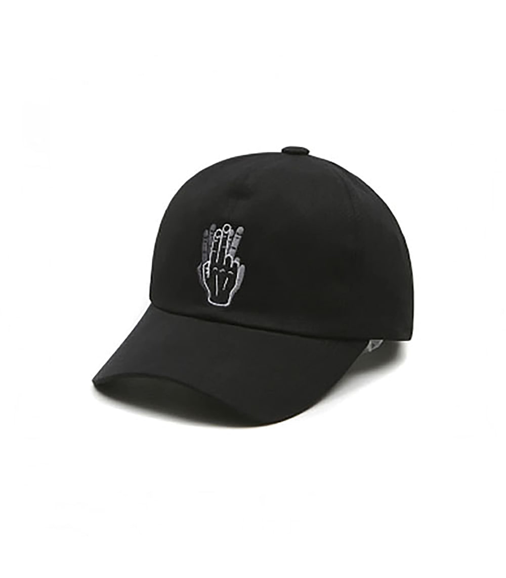 VIBRATE - HAND SHAKE SIGN BALL CAP (BLACK)