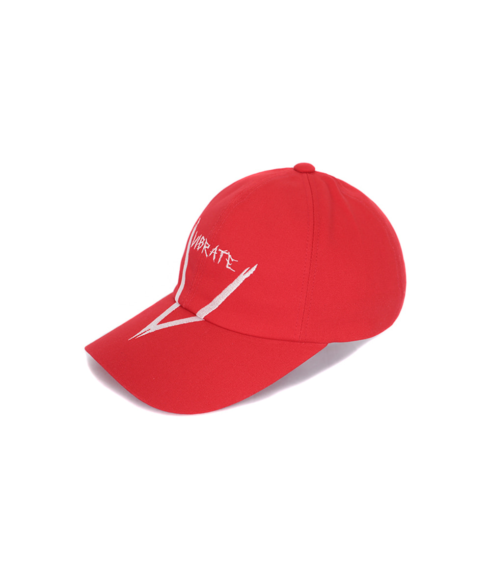 VIBRATE - V GRAFFITI LOGO BALL CAP (RED)