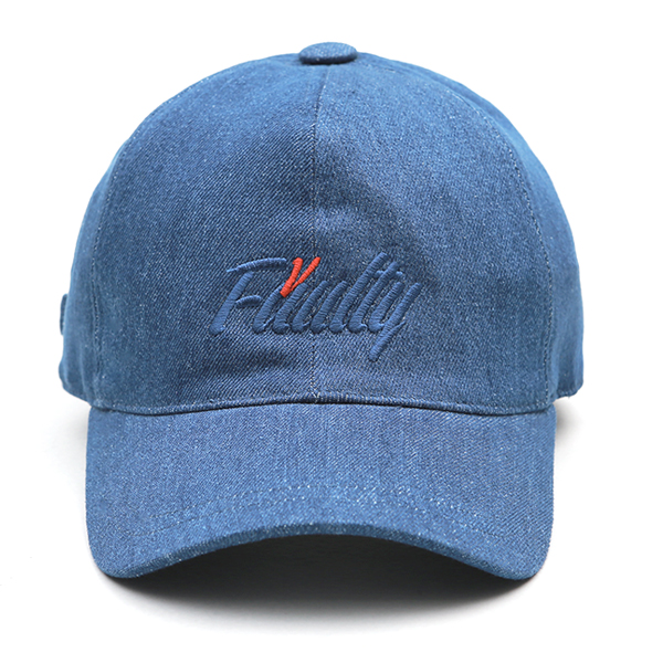 VIBRATE - ITALIC BALL CAP (blue denim)