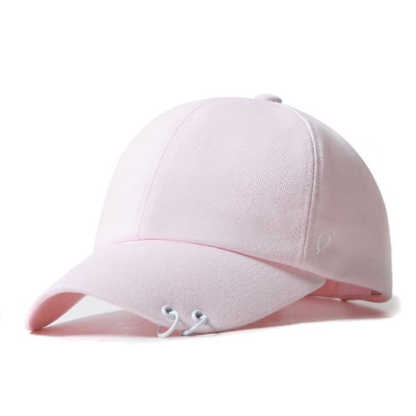 BLACK LINE - WHITE TWIN RING BALL CAP (pink)