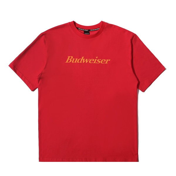 VIBRATE X BUDWEISER - BACK DETAIL T SHIRTS (RED)