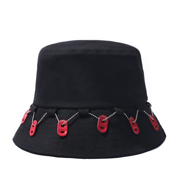 VIBRATE X BUDWEISER - CAN END CHAIN BUCKET HAT (BLACK)