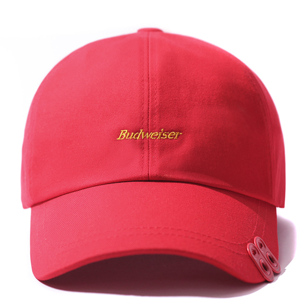 VIBRATE X BUDWEISER - TWIN CAN END BALL CAP (RED)