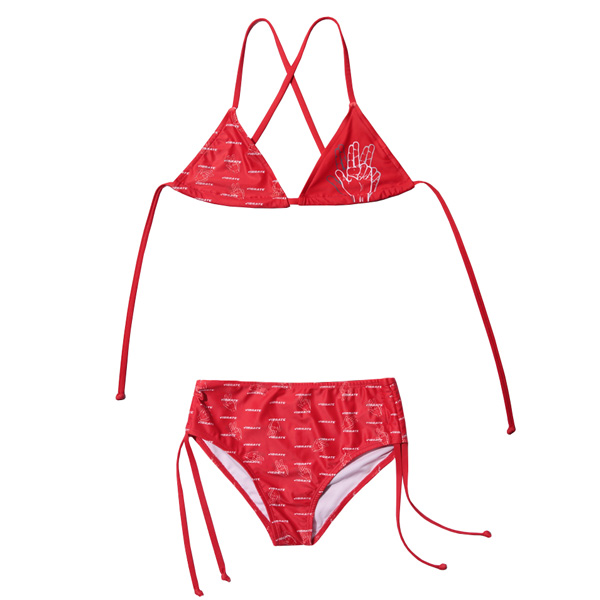 VIBRATE - LOGO GRAFFITI BIKINI (woman) (RED)