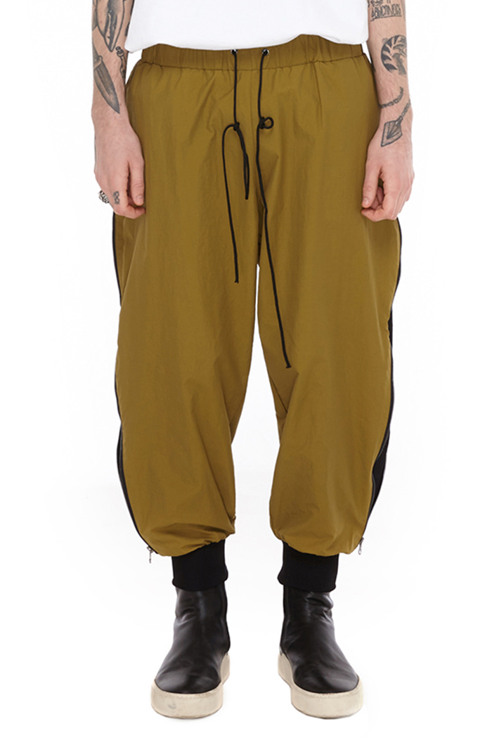 SIDE ZIP JOGGER PANTS (KHAKI)