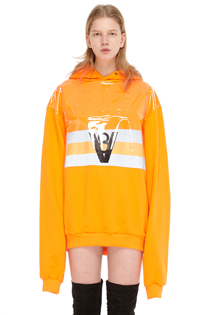HOLOGRAM SCOTCHLITE HOODIE (ORANGE)