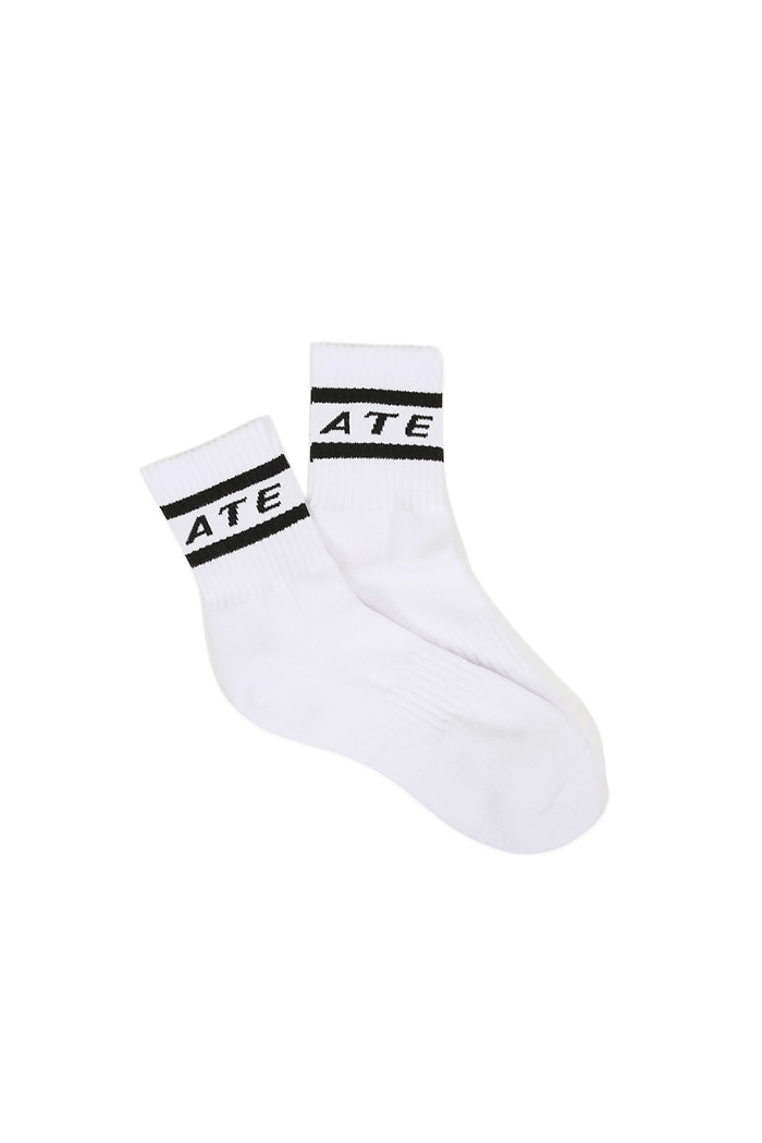 VIBRATE - OUTLINE LOGO SOCKS (WHITE)