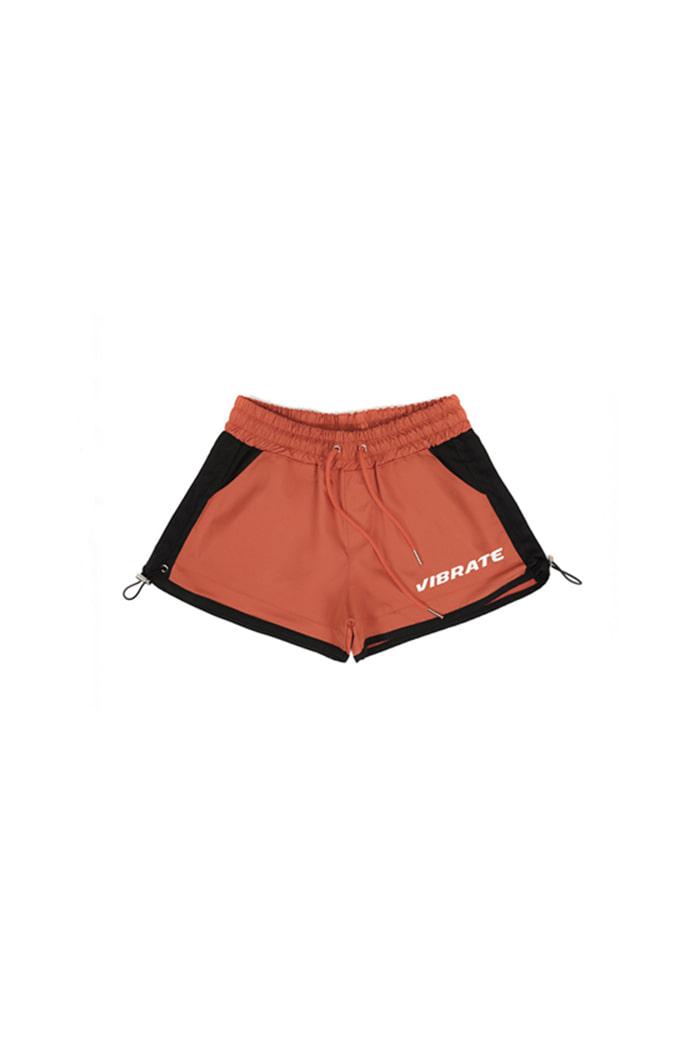 HIP LETTERING SHORT PANTS (ORANGE&BLACK)
